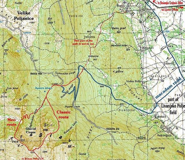 Sajkovici route towards...