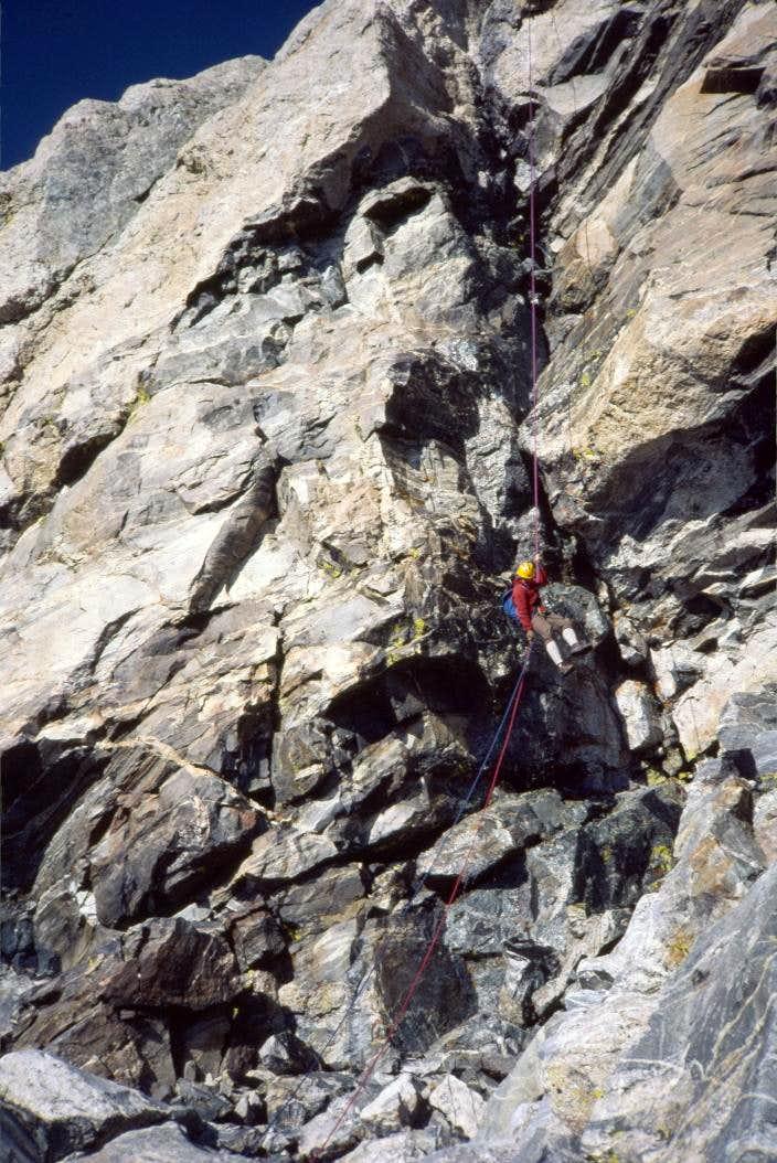 Free Rappel on Grand Teton