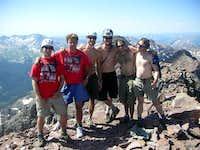Group Summit Photo on Pyramid Peak.  July 15, 2006.