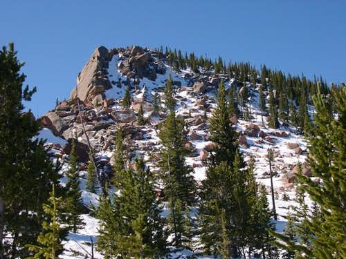 Windy Peak\'s north ridge at...
