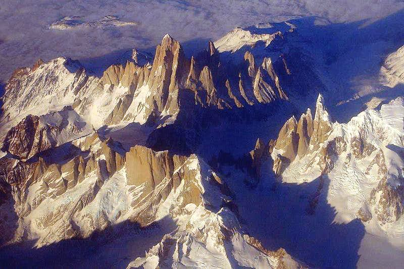 Fitz Roy from the plane