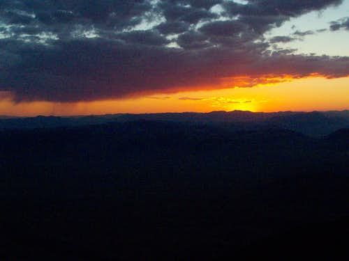 Sunset over the Sawtooth\'s