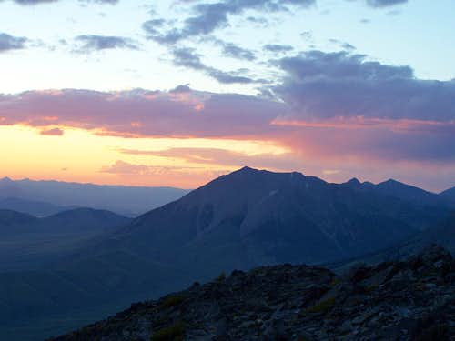Sunset clouds, from Borah Peak