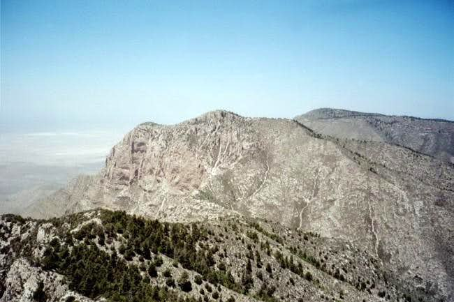 The view of Shumard Peak to...