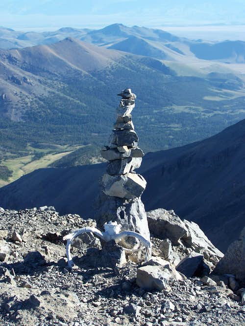 Borah Summit rock sculpture