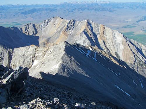 Looking down from Borah Peak