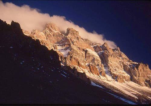 A view of Aconcagua from Camp...