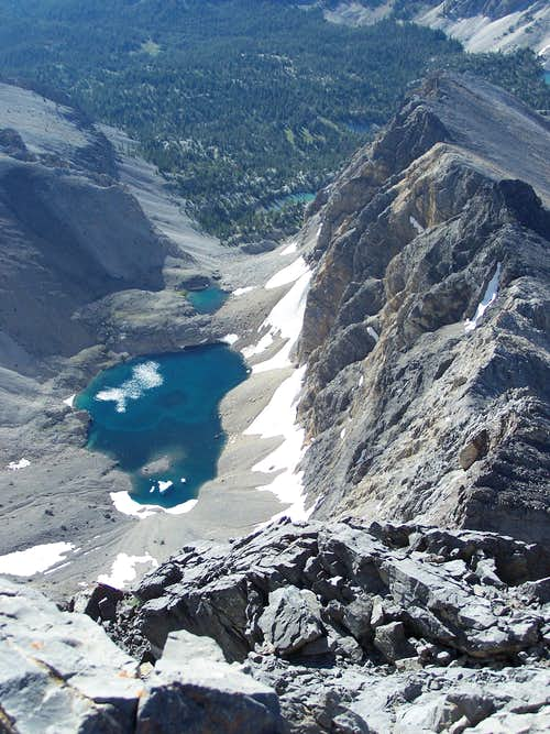Alpine Lake below Borah Summit