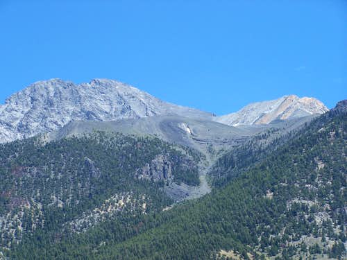 Borah Peak, Showing Climbing route