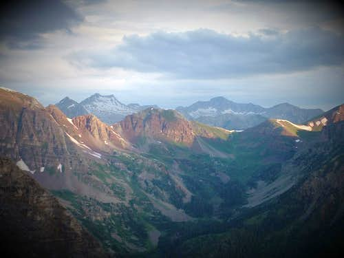 Snowmass Mountain and Capitol Peak, Colorado
