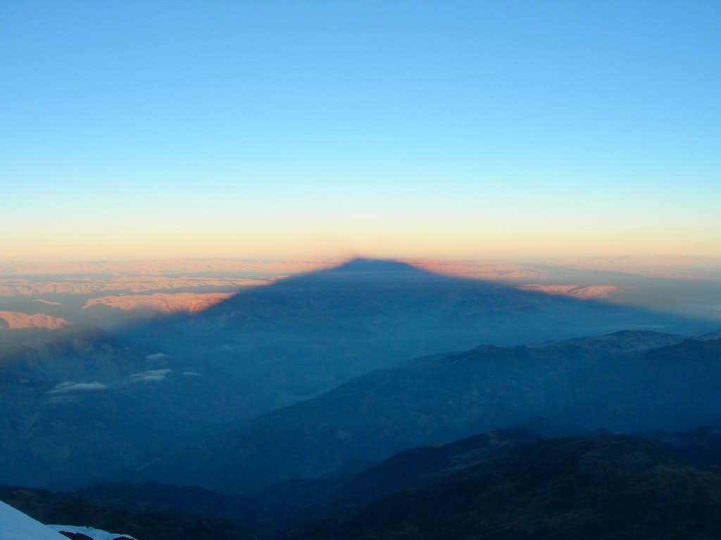 Mountain shadow at sunrise