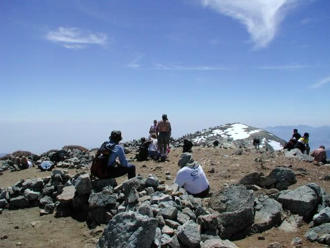 Another crowded day atop Mt...