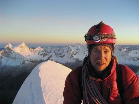 Summit of Chopicalqui at Sunrise