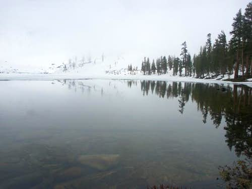 Tamarack Lake is partially...