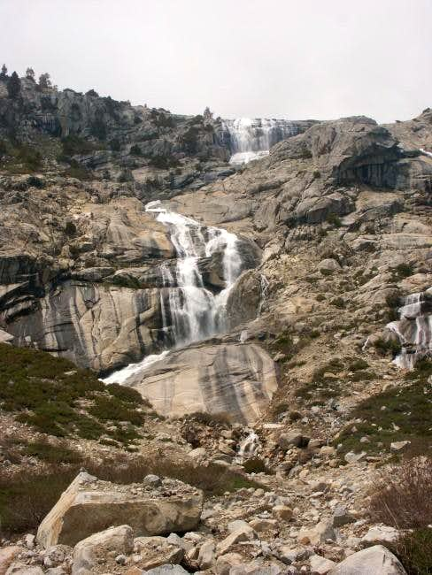 Waterfalls above Lone Pine...