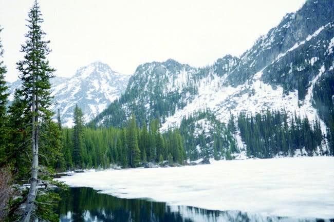Colchuck Peak in the...