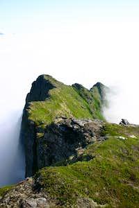 An exposed ridge on the Lofoten Islands