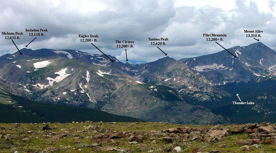 Wild Basin Peaks