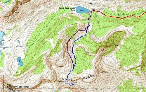 Como Saddle Route Topo
