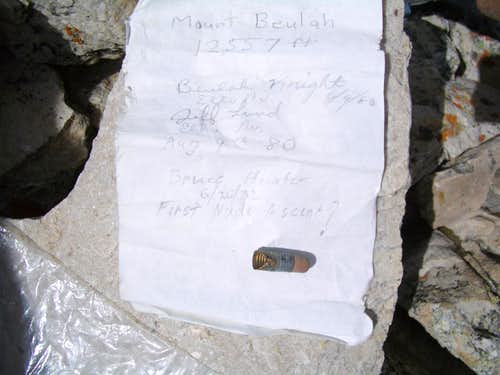 Beulah summit document
