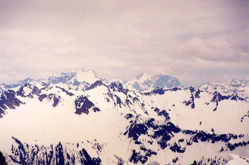 On the left is Dome Peak and...