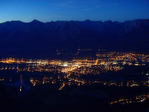 Canmore at night