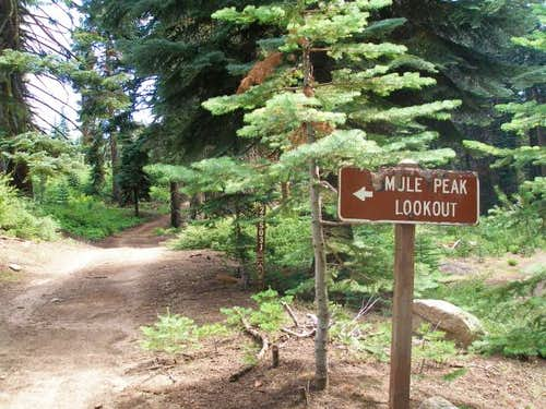 Mule Peak Road Sign