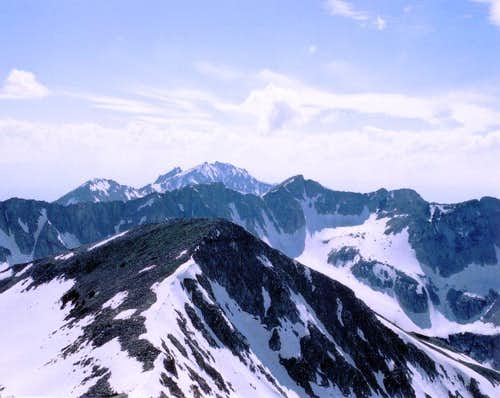 View from summit of the Pfeifferhorn