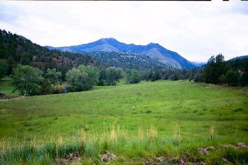 West ridge of Fields Peak...