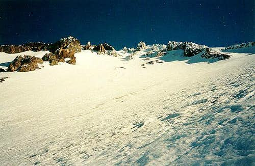 Looking up Avalanche Gulch on...
