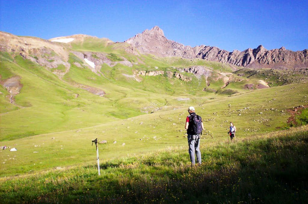 On the Trail Beyond Treeline