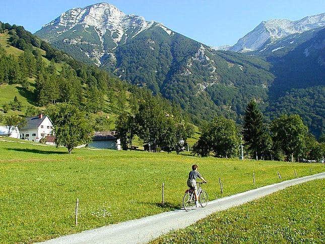 The mountain bike tour over...