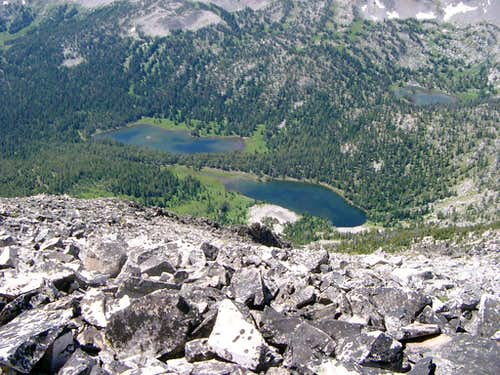 Rock Island Lakes from Summit