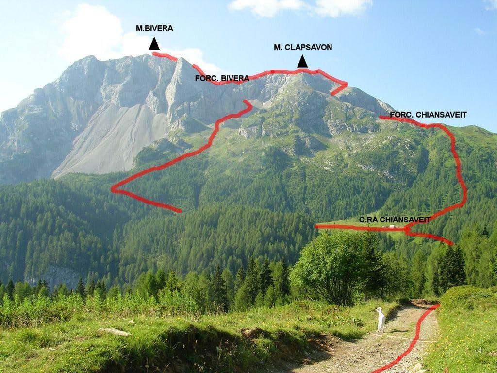 M.Clapsavon and M.Bivera Route