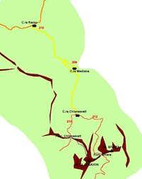 Clapsavon-Bivera Route