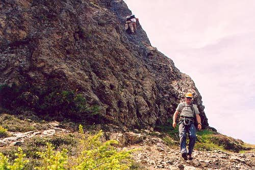 NE Ridge - final downclimb