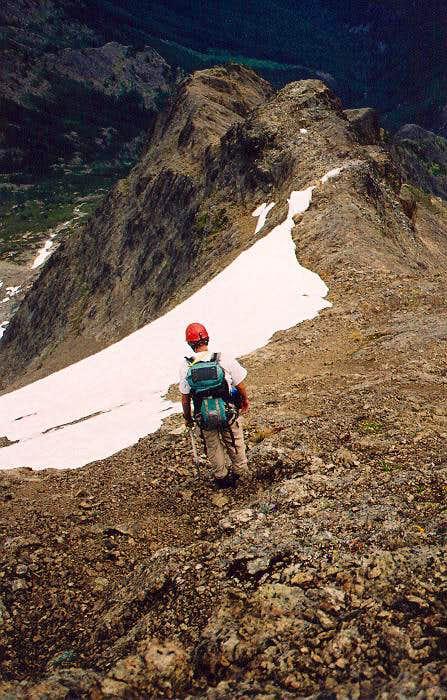 NE Ridge fr the summit