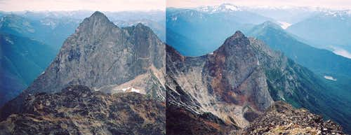 South and SW peaks