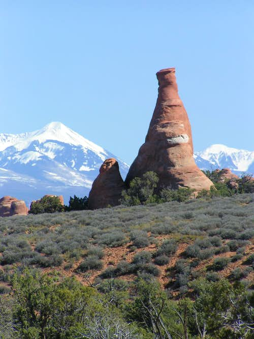 La Sal\'s from Arches National Park