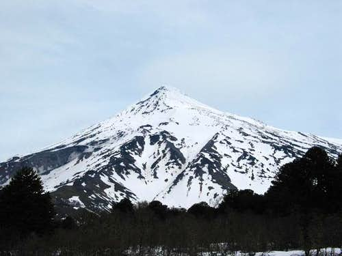 This is the view of Lanin...