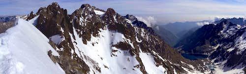 Serra dell'Argentera seen from Cima Ghigliè