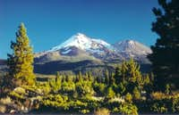A view of Mt. Shasta and...