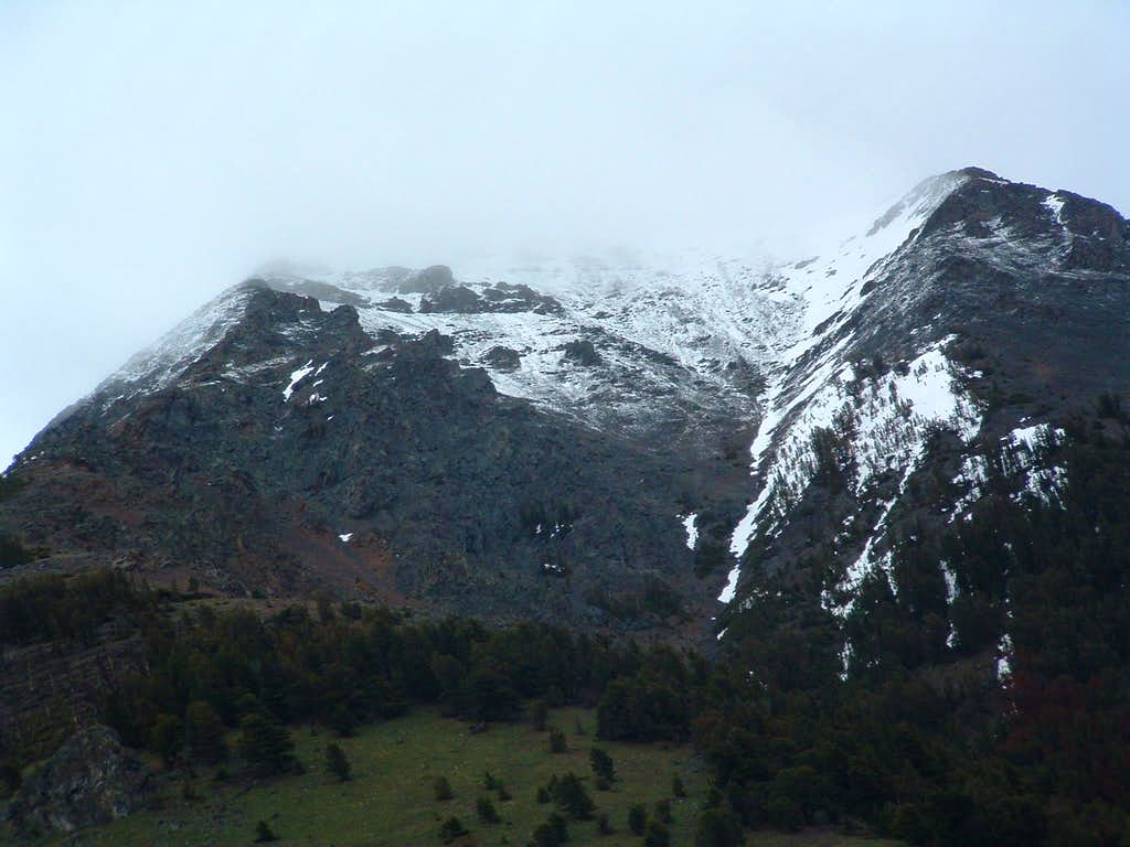 Looking back up into the clag