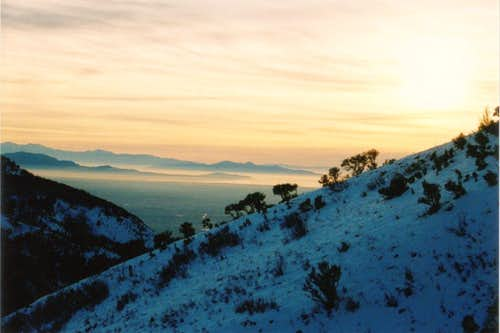Winter sunset on Ben Lomond
