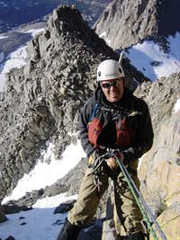 Rappeling down to Apex Notch