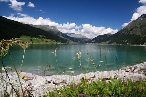 Reschensee near Reschen-pass, Italy