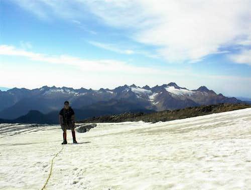 Ryan on the Easton Glacier...