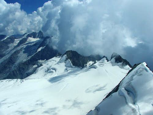 Looking south from Gran Paradiso summit