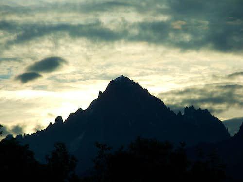 Aiguilles de Chamonix and Aiguille Verte