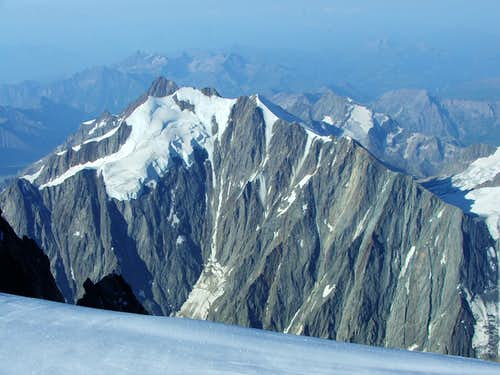 View from the summit of Mont Blanc